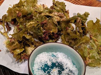 芽かき 天ぷら